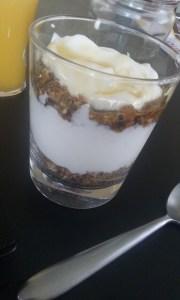 Petit-déj granola-crème de soja