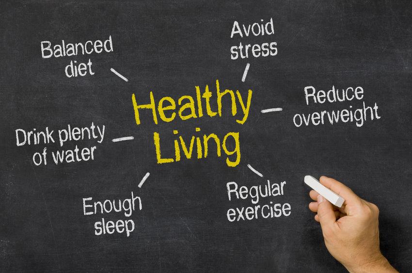 buvez de l'eau + bougez + réduisez votre stress + rééquilibrez votre alimentation + contrôlez votre poids + dormez = l'équation parfaite pour une vie saine et une bonne santé
