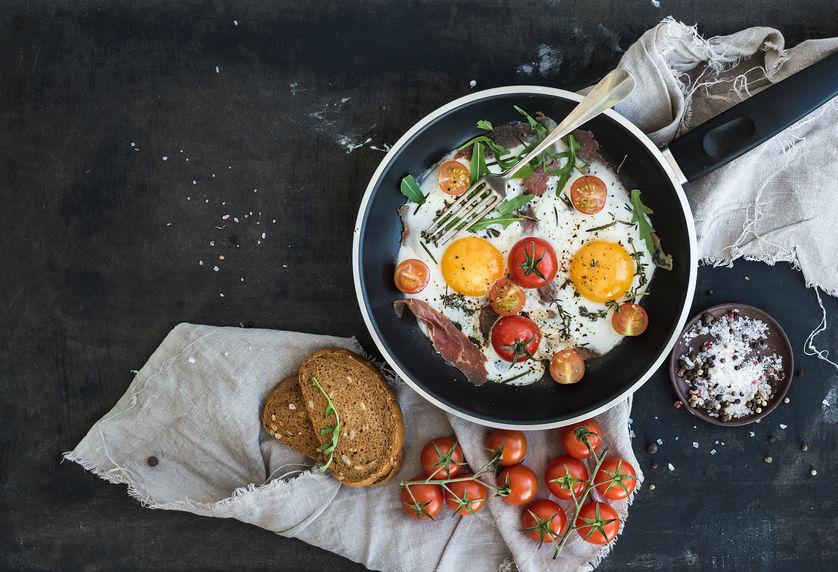 Petit-déjeuner salé, idéal pour faire le plein d'énergie avant de démarrer la journée !