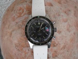 CARENY, chronographe Yachting, cal. Valjoux 7733.