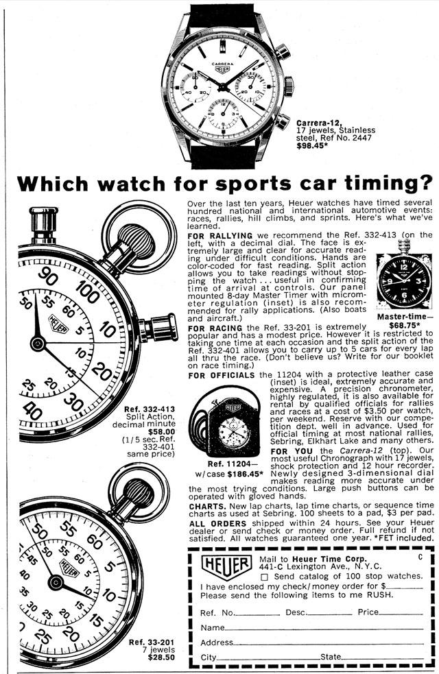 Heuer Carrera Chronographs: A Brief Overview