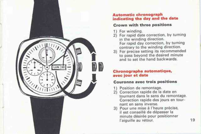 Heuer Automatic Chronograph Manual