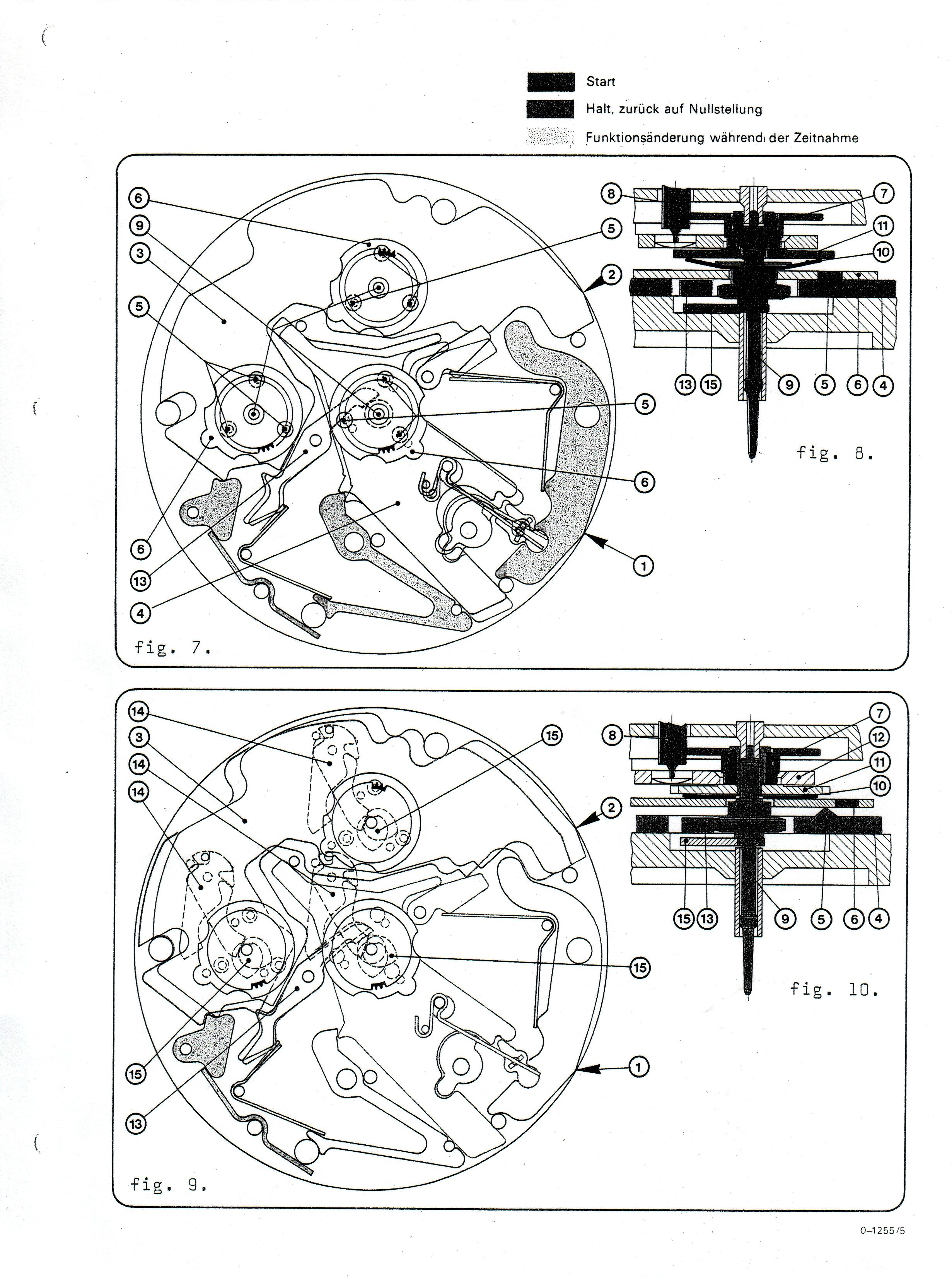 Omega Calibre 1255 (Speedsonic) Service Manual in German