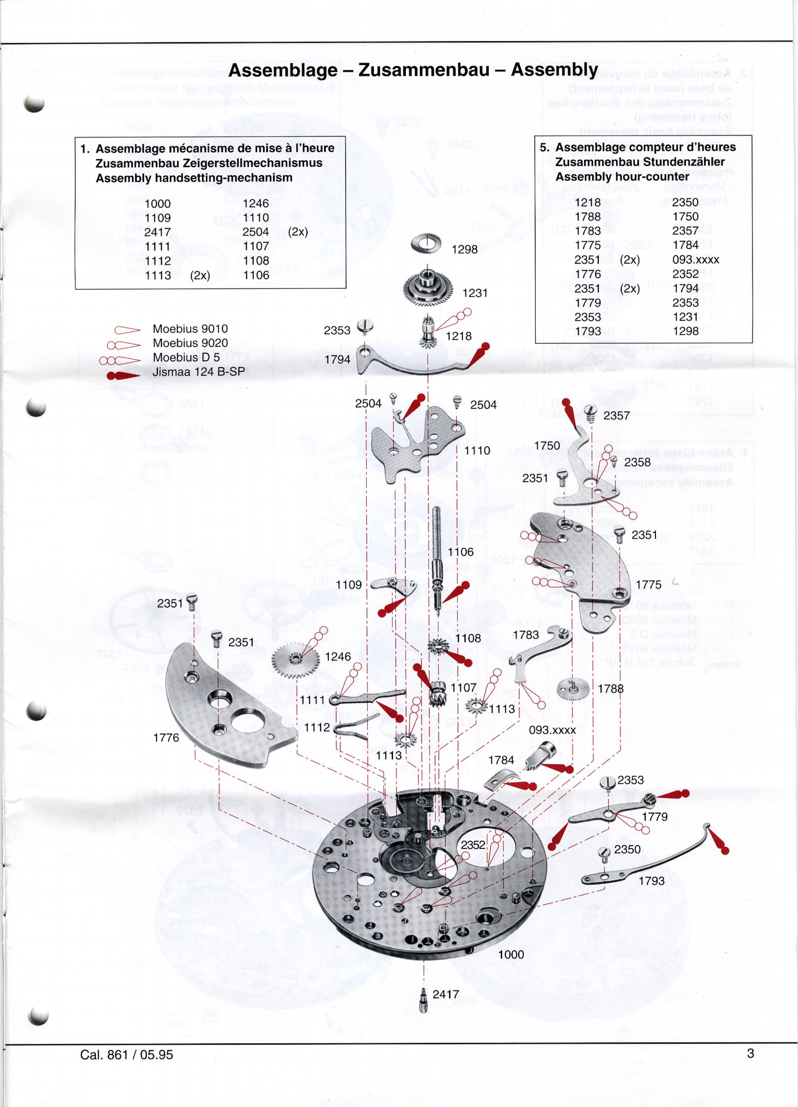 Omega c.861 Chronograph Service Manual