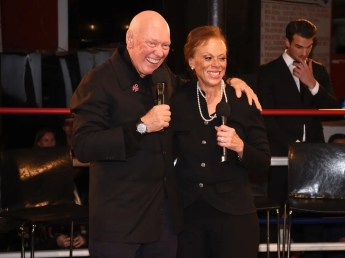 NEW YORK, NY - OCTOBER 25: CEO of TAG Heuer Jean-Claude Biver and Lonnie Ali attend the Muhammad Ali tribute event at Gleason's Gym on October 25, 2016 in New York City. (Photo by Dave Kotinsky/Getty Images for TAG Heuer)