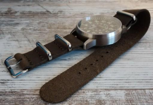 Watchbandit Leder Nato Leather Strap Laco Faro B-Muster Beobachtungsuhr