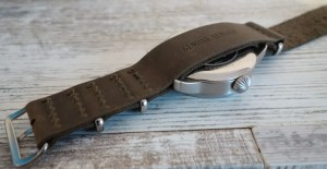 Watchbandit Leder Nato Leather Strap Laco Faro B-Muster Beobachtungsuhr