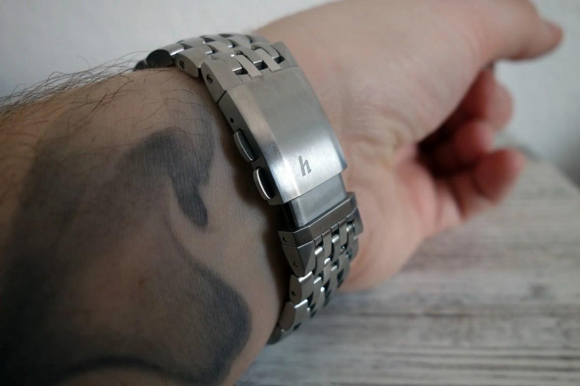 Hanhart Tachytele Chronograph verstellbare Schließe Clasp Schnellverschluss