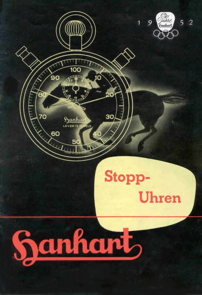 Olympia_1952 Hanhart Advertising Werbung Vintage Stop Watches Stopuhr