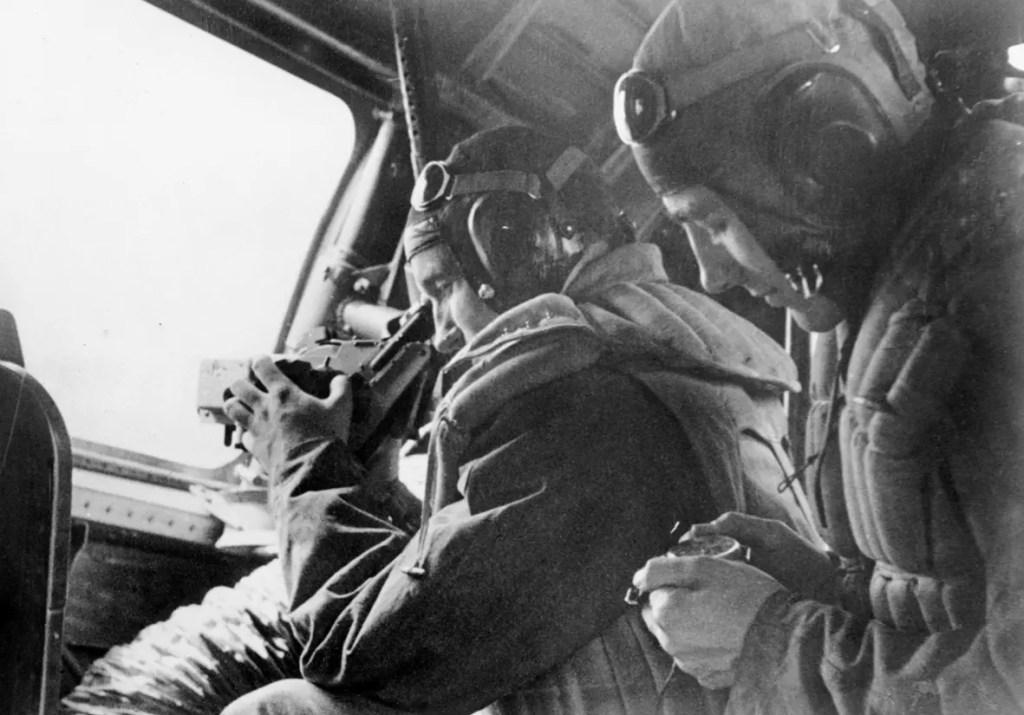 Standortbestimmung im Flugzeug Laco Beobachtungsuhr WW2 zweiter Weltkrieg