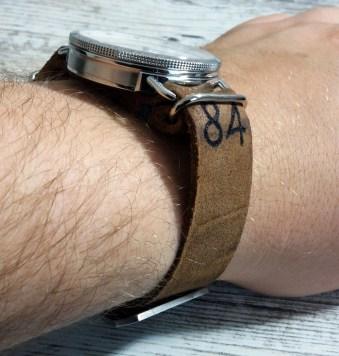 NATO Leder Band Wrist Handgelenk (5)