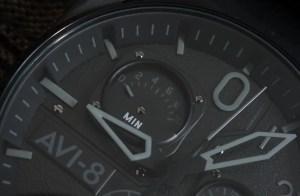 Cockpit Watch AVI-8 Hawker Hunter Black Chrono
