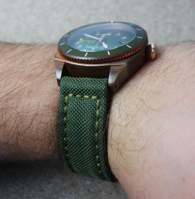 Militärband Canvas für Bronze-Uhr
