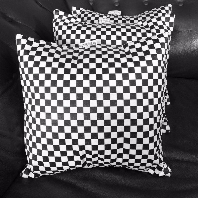 Black And White Checkered Throw Pillows Chronos Stores