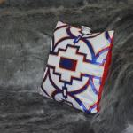 Red white and blue throw pillow Chronos stores dreamhome shop seller