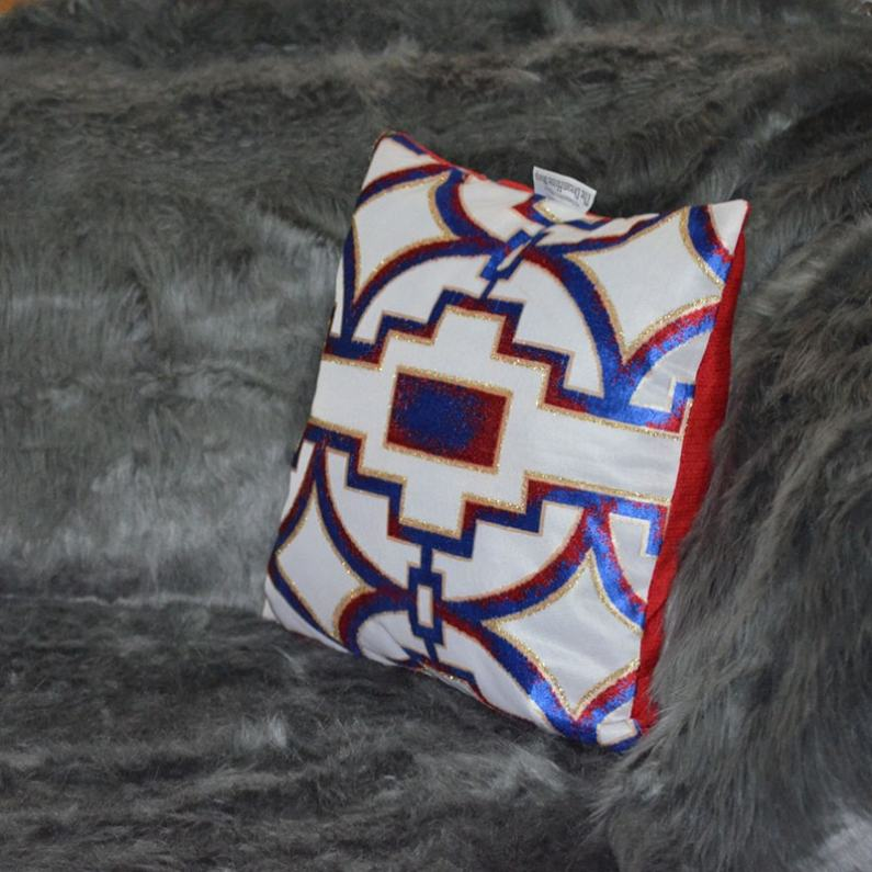 Red White And Blue Throw Pillow Chronos Stores