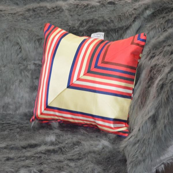 Striped red,cream and blue throw pillow Chronos stores dreamhome shop seller