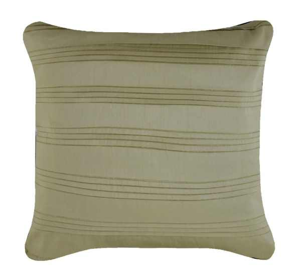 Satin Pleats Cushion in French Sage by CIMC