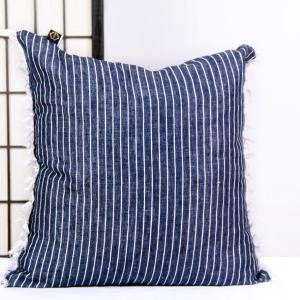 Jhené Denim Fringe Throw Pillow