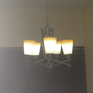 5- Set Antique Chandelier With Wall Lamp