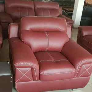 7 Seaters Brown LG Leather Chair