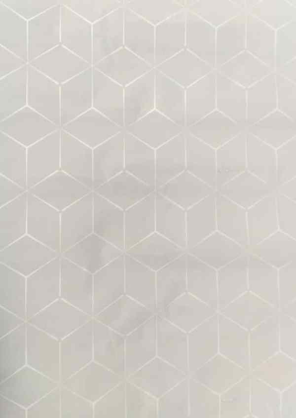 Plain with White Patterned Wallpaper