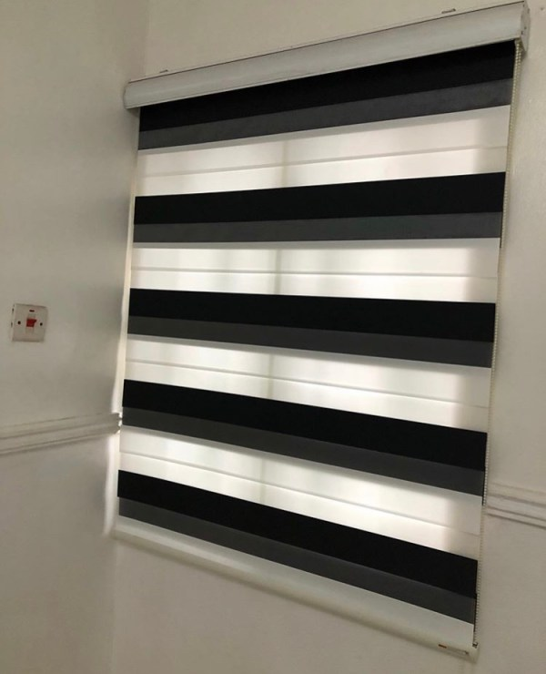 Black and White Window Blinds 02