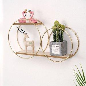 Shelf - Circle Hanging Wall Shelf - Wall decor - Round Floating wall shelf