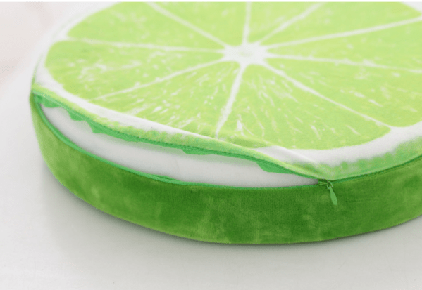 Throw Pillow - Lemon Fruit Slice Throw Pillow, Fruit Slice Cushion, Fruit design throw pillows