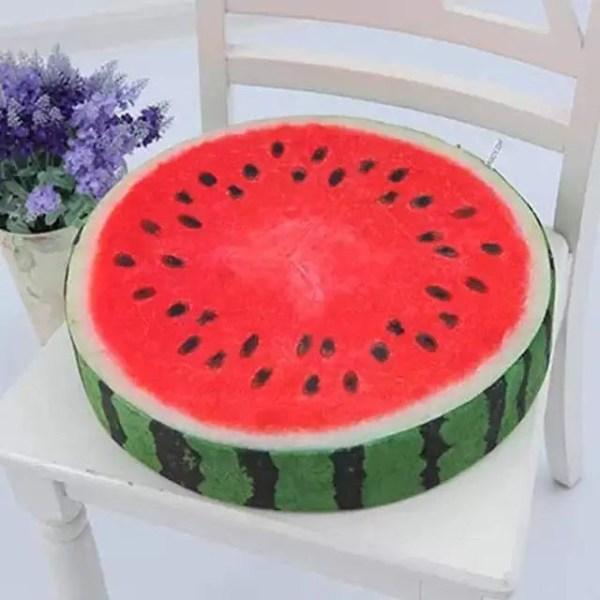 Throw Pillow - Watermelon Fruit Slice Throw Pillow, Fruit Slice Cushion, Fruit design throw pillow