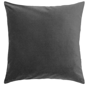 black decorative throw pillow