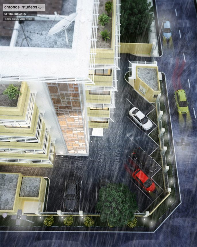 Chronos Studeos Making the 3D rendering of Rainy Day in Lagos (3)