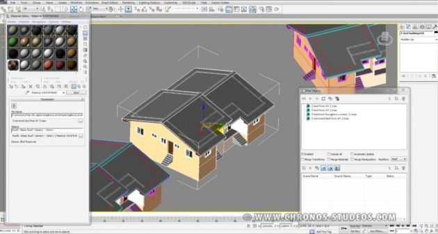 Chronos Studeos Video Tutorial - Xrefs in 3dsmax 3