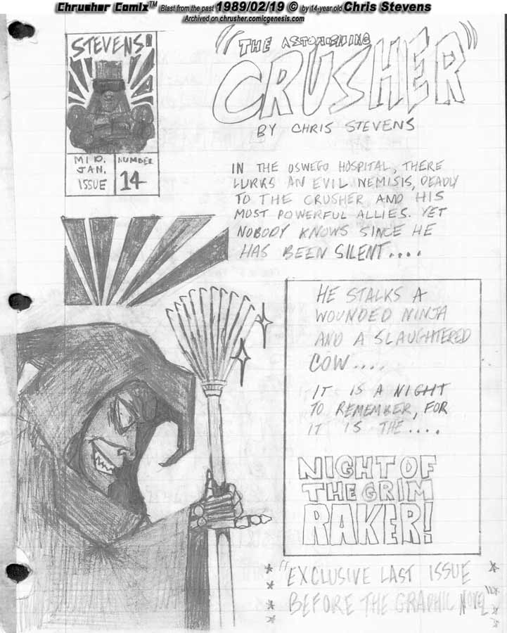 Night of the Grim Raker's Hectors | Crusher Comics #5 (1988-89 Mini-issue #14)