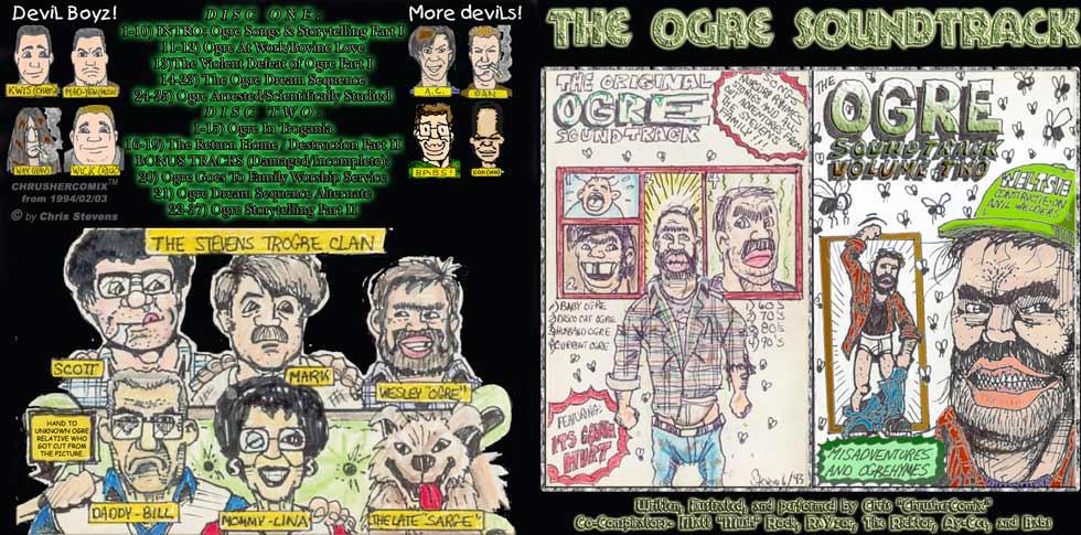 The Ogre Soundtrack CD Set Cover (1994) | Chris' Crusher Comics