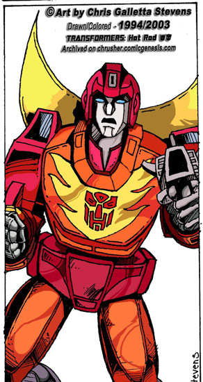 Transformers: G1 Cartoon Hot Rod / Rodimus | ChrusherComix