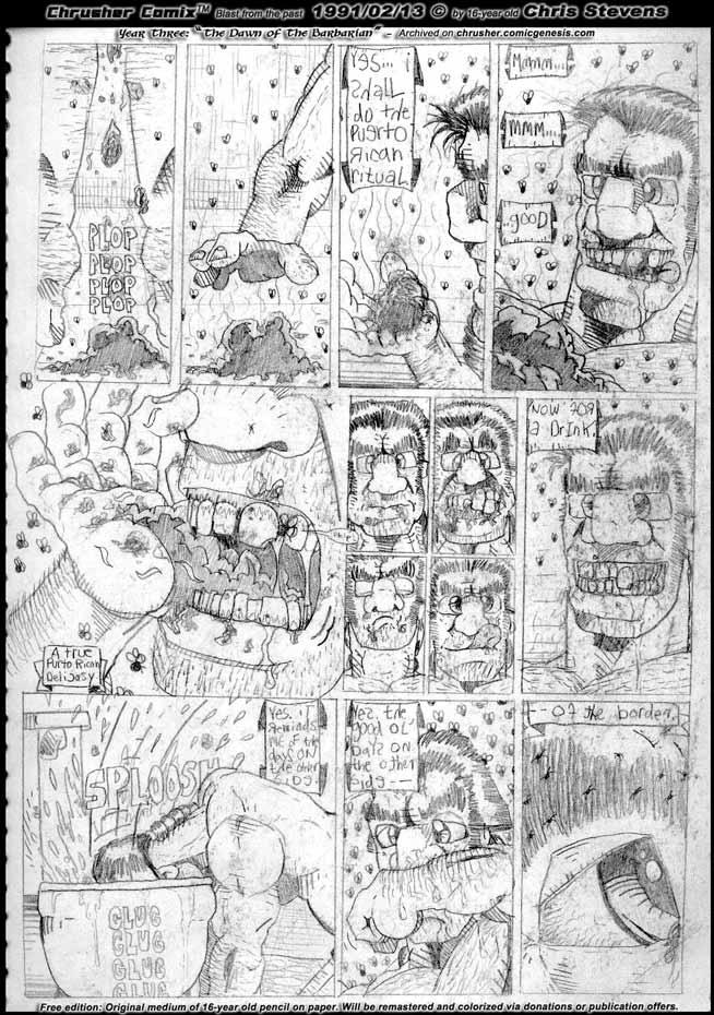 The Fecal Ingestion Ritual   The Bezerker Barbarian Howeird (1991)