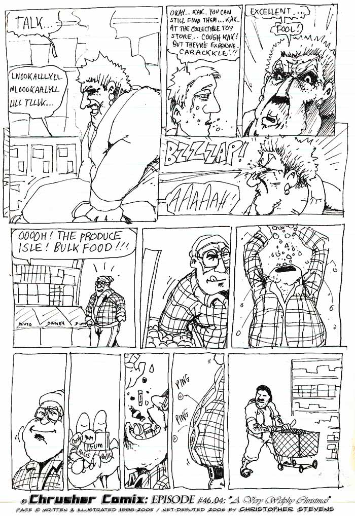The Crotch-Rot Torture Hold, Laser Eyes, and Bulk Candy Aisles | ChrusherComix Holiday Special
