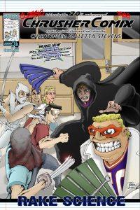1989-01-15-Crusher-Comics-Classic-4-Rake-Science-Anniversary-Cover
