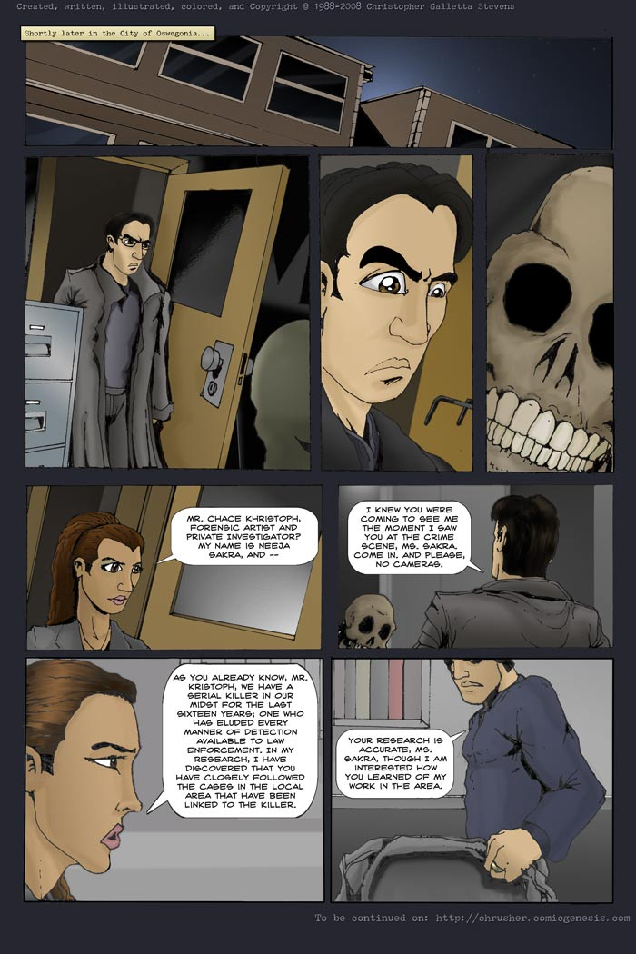 Chace Kristoph, Private Detective & Forensic Artist | End Cycle #1 (2008-01-16)