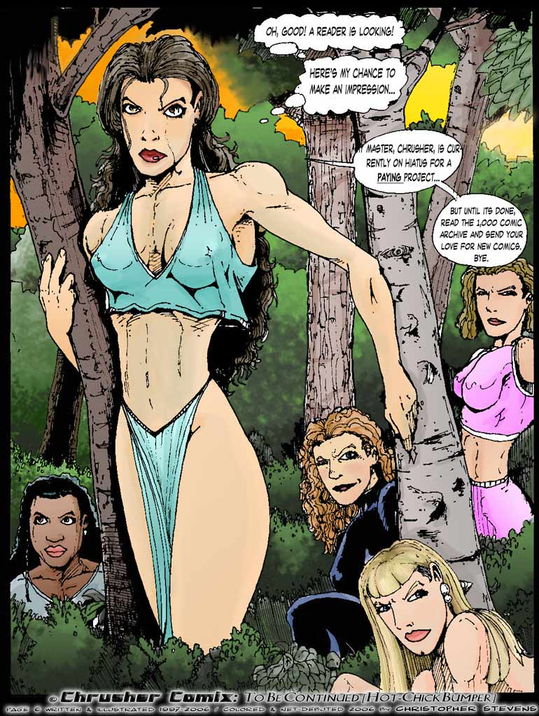 Whoa… Hot Chicks…. (Hiatus Bumper) & Critique of my art style?