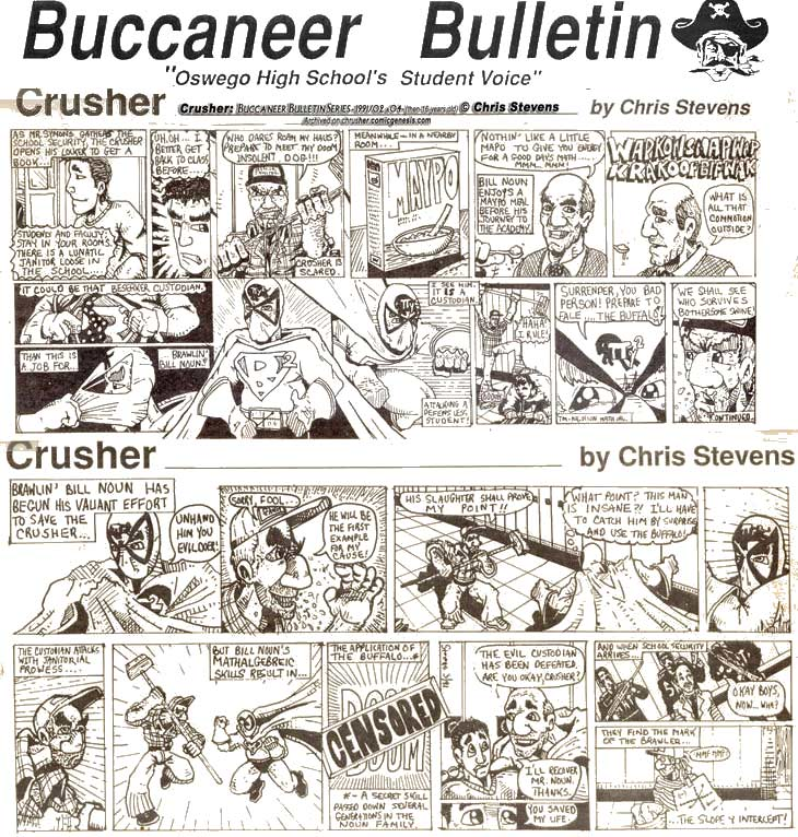 Buccaneer Bulletin Series: Crazed Custodian Parts 3 & 4 (of 4) | Crusher Comics (1990-91)