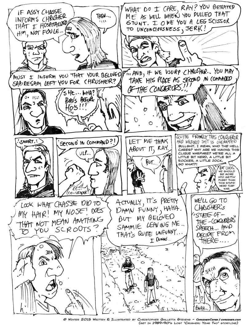 Ray and Dave Plot   Crusher Comics Year Two