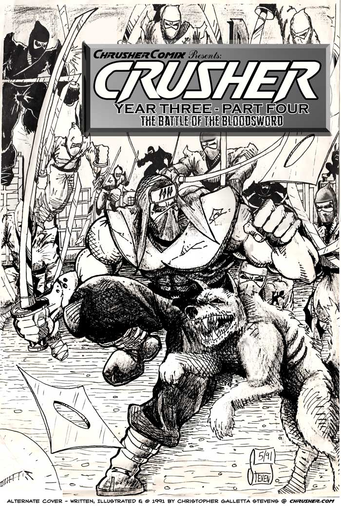 Battle of the Bloodsword – Chrusher: Year Three, Pt. 4 (1991) [Alternate Cover]