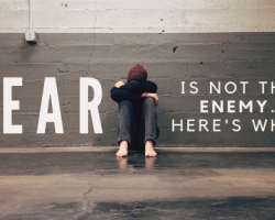 Fear is Not the Enemy. Here's Why. Blog Post Title Image.