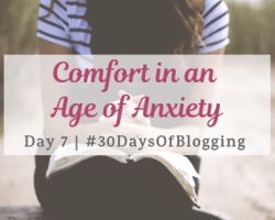 Comfort in an Age of Anxiety | Day 7 of 30 Days of Blogging