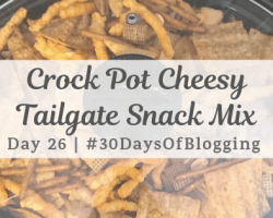 Crock Pot Cheesy Snack Mix | Day 26 of 30 Days of Blogging