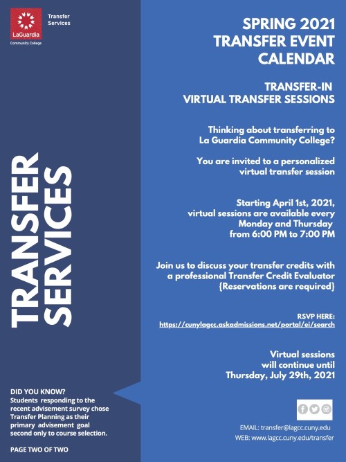 Laguardia Community College Calendar 2022.Transfer In Virtual Information Sessions For Prospective Students At Laguardia Spring 2021 Japan Studies At Laguardia Community College