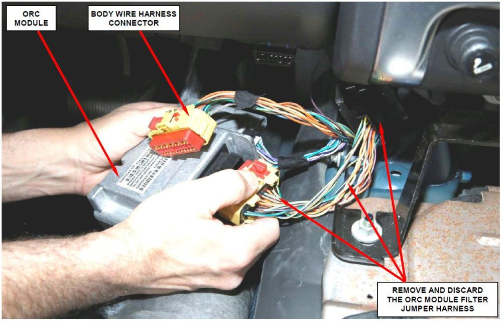medium resolution of  safety recall r06 nhtsa 15v 046 occupant restraint control module disconnect wire harness from ecm 2003