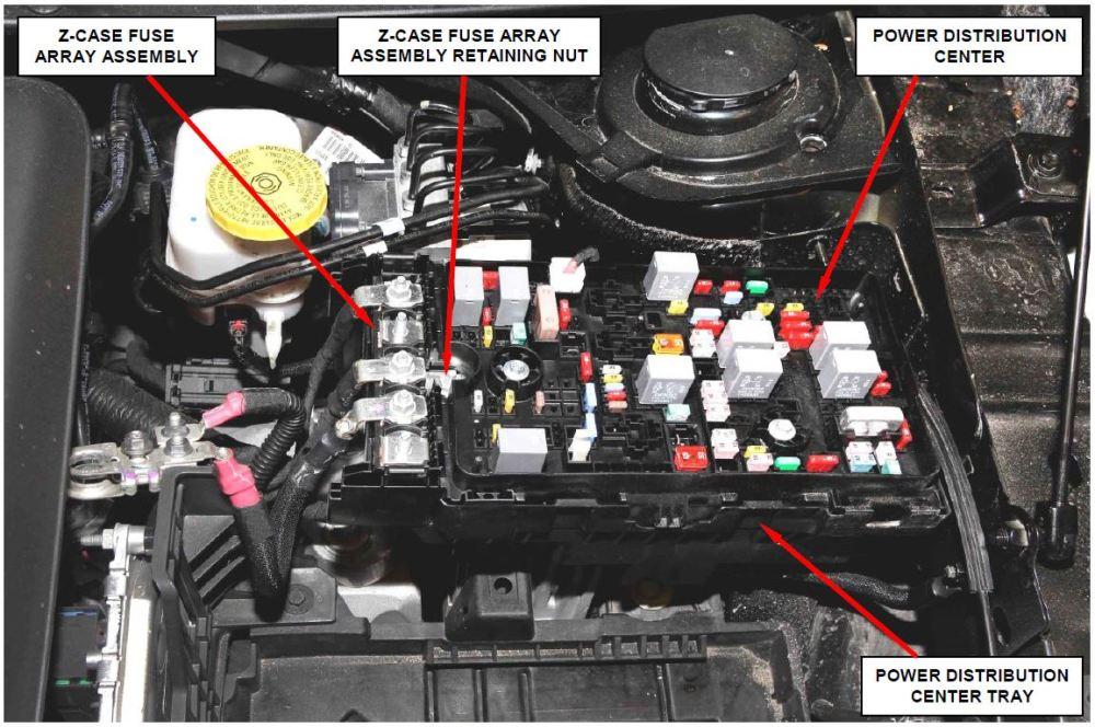medium resolution of z case fuse array retaining nut